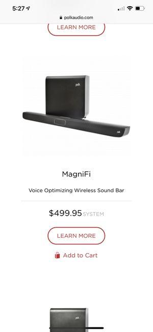 Polk Audio Magnifi soundbar & wireless subwoofer for Sale in Spring, TX