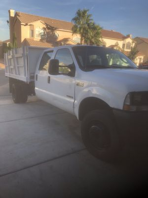 Ford F450 diesel truck with dumpbox for Sale in Las Vegas, NV