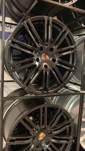 """19"""" Porsche rims Satin black 5x130 new stag cayenne macan carerra for Sale in Sterling Heights, MI"""