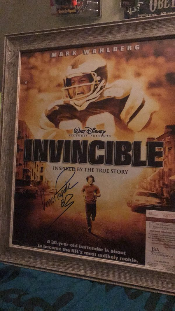 Autographed Vince Papale Invincible Movie Poster with coa