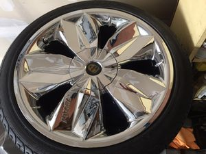 Lexani crystal rims with Michelin pilot tires for Sale in Selma, CA