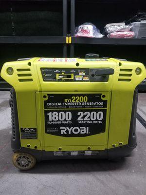 Ryobi 2200-watt Digital Inverter Generator RYI12200 for Sale in Las Vegas, NV