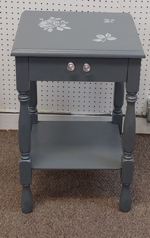 Solid Wood Gray Side Table for Sale in Burlington, NC