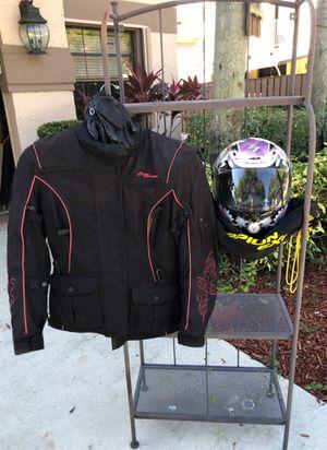 Motorcycle jacket, helmet, gloves for Sale in Plantation, FL