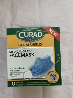 Curad 4 ply face mask. 10 pc/ box. 2 box $50 for Sale in Anaheim, CA