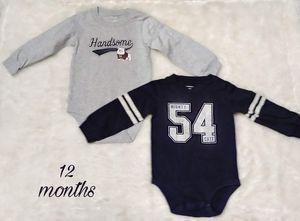 2 Carter's baby onesies for Sale in Perris, CA