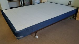 Queen Bed frame and box spring (slim style) for Sale in San Diego, CA