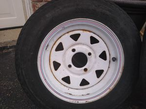 Trailer tires and rims. Brand and size on the pictures. for Sale in Mundelein, IL