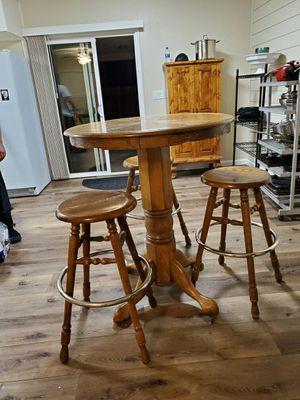 Solid Oak Pub Table for Sale in Manteca, CA