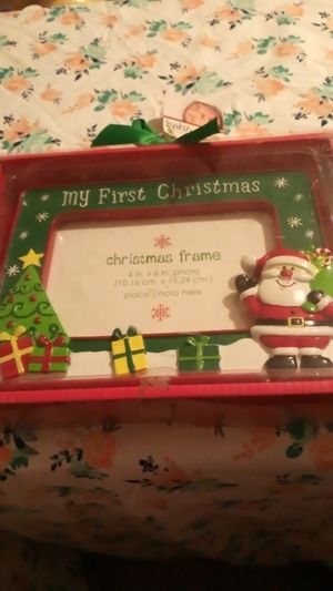 Christmas baby frame for Sale in Riverside, CA