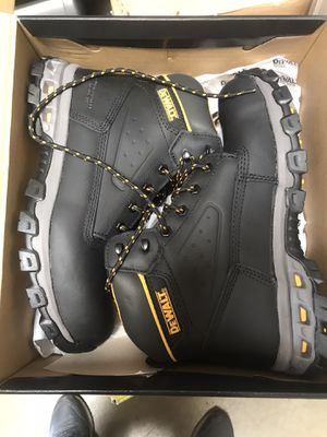 DEWALT Men's Halogen 6'' Work Boots - Steel Toe - Black Full Grain Size 9(M) for Sale in Rosemead, CA