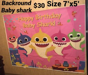 Babyshark backround for Sale in Tomball, TX