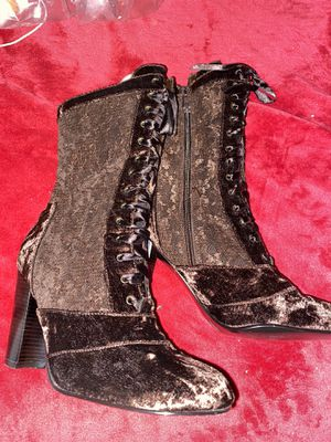 Brown Suede Victorian Boots 👢 for Sale in Whittier, CA