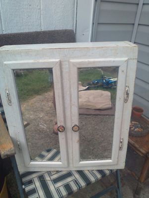 Antique White Mirrored Cabinet for Sale in White House, TN