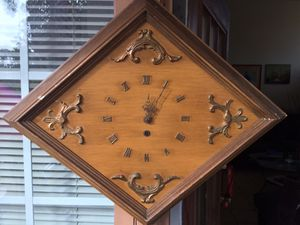 Antique wood wall clock for Sale in Houston, TX