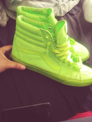 Neon Green High top Vans for Sale in Riverview, FL