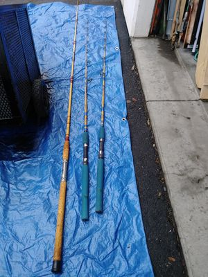 fishing rods in good condition 3. at $ 25 and 2 at $ 35 for Sale in Santa Ana, CA