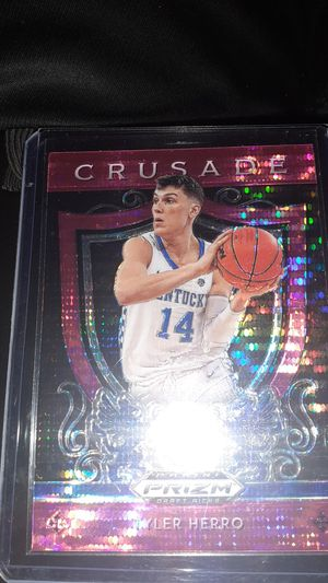Tyler Herro Panini Prizm Pink Pulsar Crusade RC! GEM MINT & READY TO GRADE!📈 for Sale in Cleveland, OH