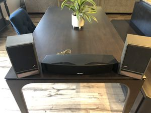 Bose 141 bookshelf speakers and VCS-10 center channel speaker for Sale in Ruston, WA