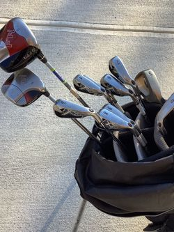 Call away X22 Iron Set Golf Clubs Plus Call away Fusion Driver And 3 Wood for Sale in Duluth,  GA
