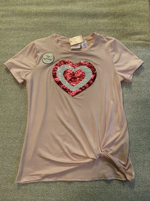 Extremely me Girls Pink Sequined t-shirt Short Sleeves Sz 14 for Sale in Las Vegas, NV