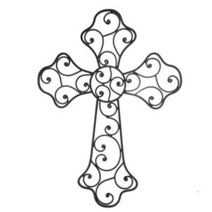 "Brand New! 21"" Swirly Cross Metal Wall Decor for Sale in Miami, FL"