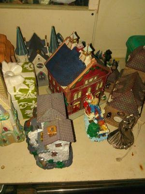 Christmas village knick knacks for Sale in Shelton, WA