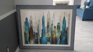 Beautiful Large Abstract Gray Trimmed Wall Art Picture-36X48 for Sale in Dearborn, MI