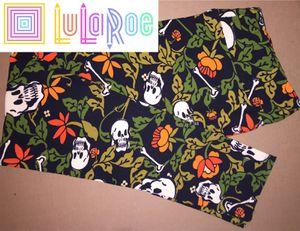 LuLaRoe TC Leggings Skulls Bones Flowers for Sale in Creve Coeur, IL