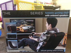 Black series foldable gaming chair for Sale in San Luis Obispo, CA