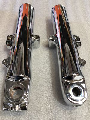 Harley Davidson Street Glide Rod Glide 2014-2018 Newly Chrome Lower Slider Fork Leg set for Sale in Ontario, CA