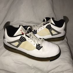 Jordan AJF 4 IV Fusion Nike Air Force 1 - Sz13 -White Cement Retro (No Box) for Sale in Silver Spring,  MD