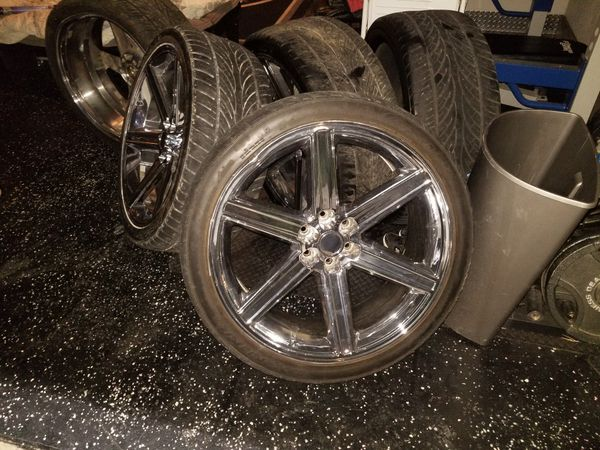 Selling 24 inch iroc replicas rims and tires