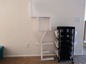 Wall shelving and cart. for Sale in Goodyear, AZ