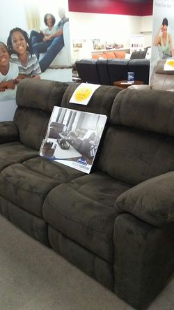 Ashley power reclining sofa with adjustable headrest for Sale in Uniontown,  PA