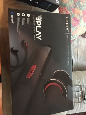 Coby Bluetooth speaker headphones and earbuds combo for Sale in Lake Worth, FL