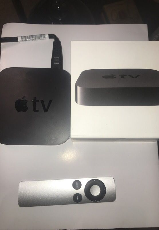 Apple TV with box