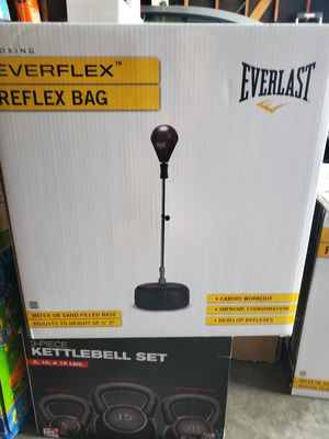 Reflex speed heavy boxing bag everlast everflex for Sale in Bellflower, CA