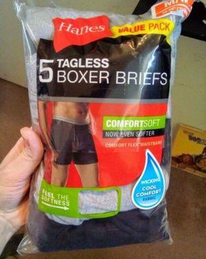 Men's Hanes 5 Pair of Boxer briefs for Sale in Fresno, CA