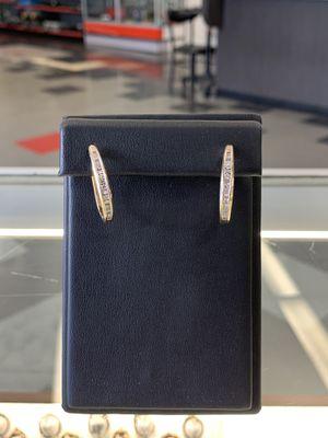 Gold Earrings with diamonds for Sale in Phoenix, AZ
