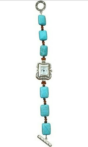 Mountain Blue Turquoise and Crystal Watch for Sale in Wichita, KS