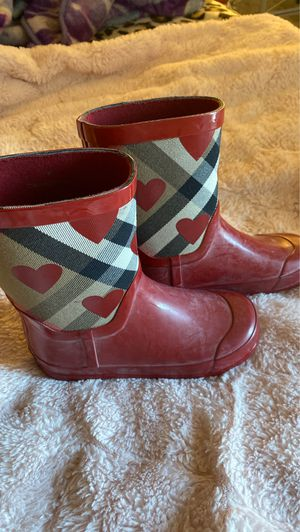 Burberry rain boots girls 12.5 for Sale in Phoenix, AZ
