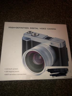 Digital Camera Camcorder, ACTITOP FHD 1080P 24MP 30FPS Vlogging Camera WiFi Video Camera 16X Digital Zoom 3.0'' Rotation Flip Screen for Sale in Dayton, OH