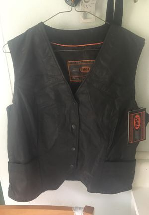 Leather motorcycle vest xxl for Sale in Portland, OR