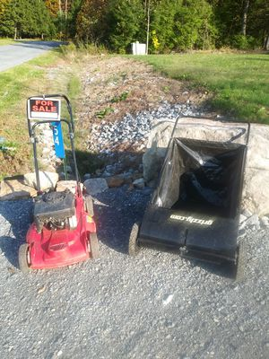 Troy built mulching mower & grizzly leaf sweeper for Sale in Lock Haven, PA