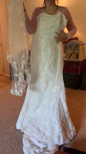 Wedding Dress & Veil for Sale in Falls Church, VA