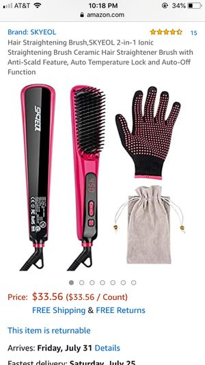 New Skyeol Hair straightening brush for Sale in San Diego, CA