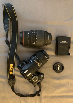 Nikon D3100 +two lenses +accessories for Sale in Rockville, MD