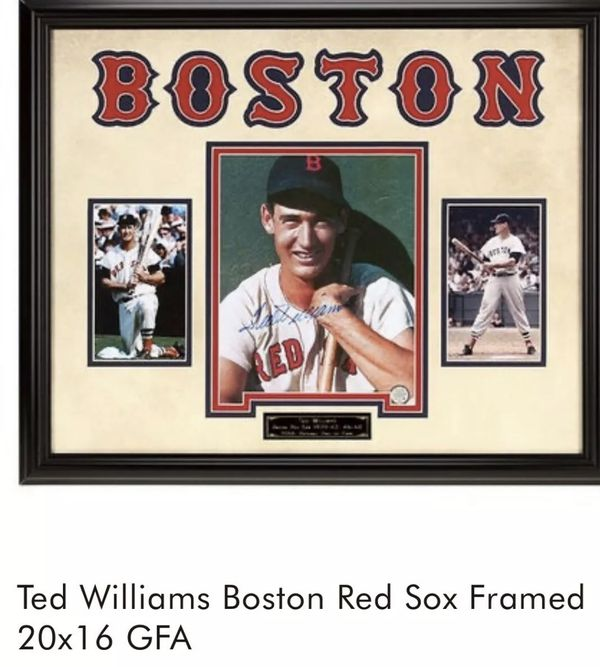 Ted Williams - Beautifully Framed Auto with COA