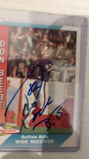 Don Beebe Autograph card for Sale in Jacksonville, FL